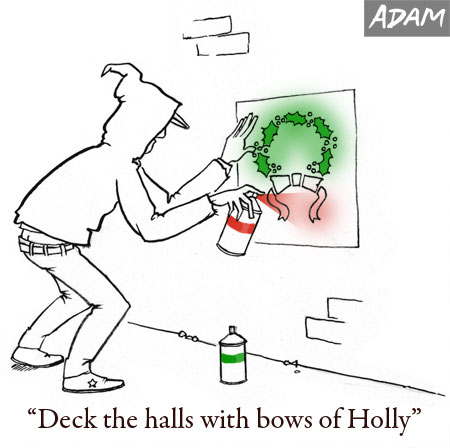 Deck the halls with bows of holly