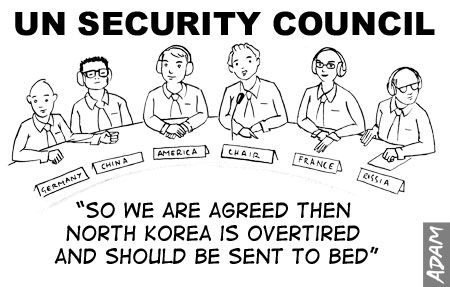 We are agreed then North Korea is overtired and should be sent to bed