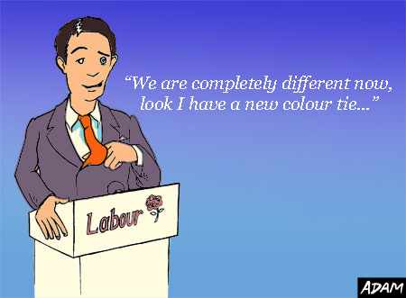 Look we are completely different I have a new colour tie
