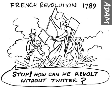 Stop! how can we revolt without twitter?