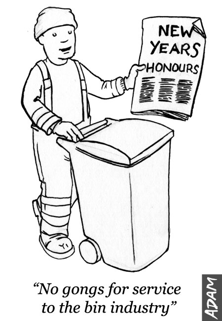 No gongs for service to the bin industry
