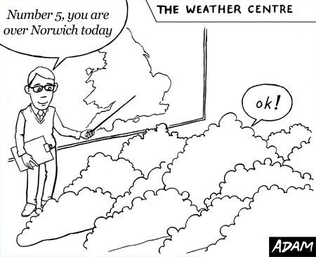 early morning meeting at the weather centre