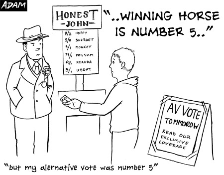 but my alternative vote was for number 5