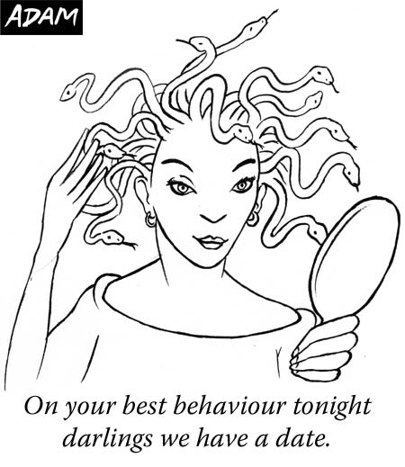 On your best behaviour tonight darlings we have a date