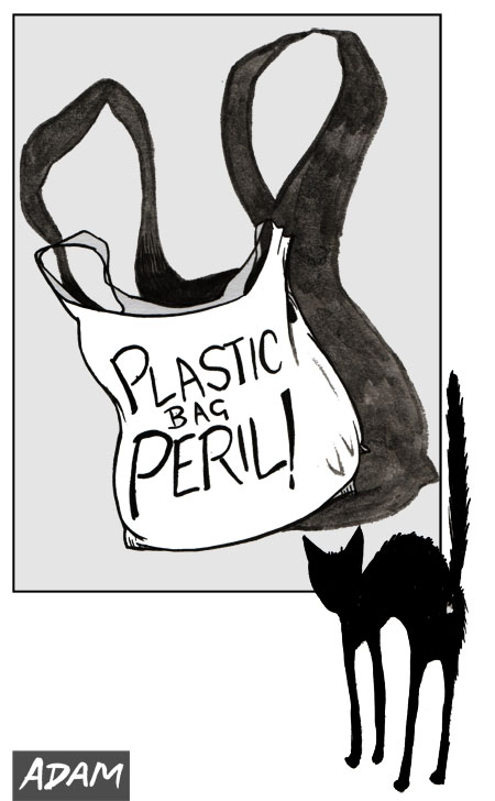 Horror Films for Cats the Plastic Bag
