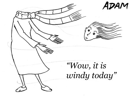 Wow it is windy today
