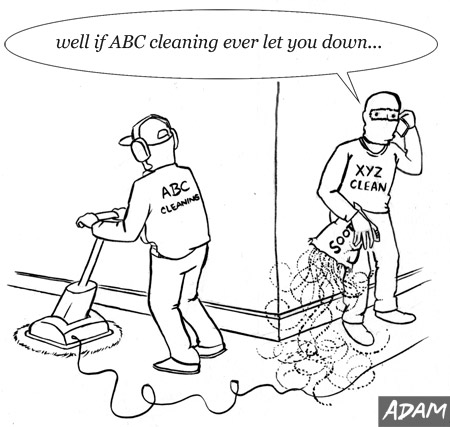 well if ABC cleaning ever let you down...