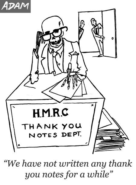 HMRC thank you notes
