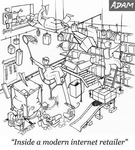 Inside a modern internet retailer