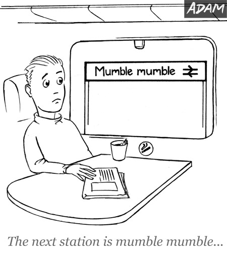 The next station is mumble mumble
