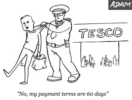 No my payment terms are 60 days