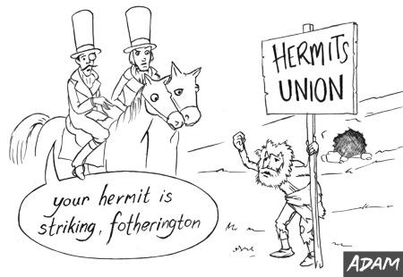 Your hermit is striking Fotherington